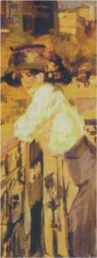 Islraels parigi, donna al balcone 1904 - 1913