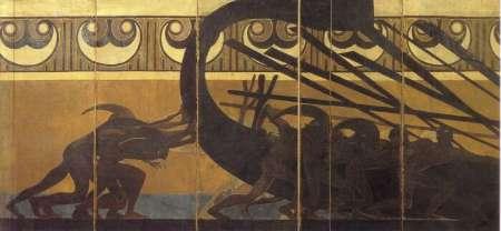 Duilio Cambellotti- Gli Argonauti spingono in mare la nave Argo-Medea di Euripide 1927