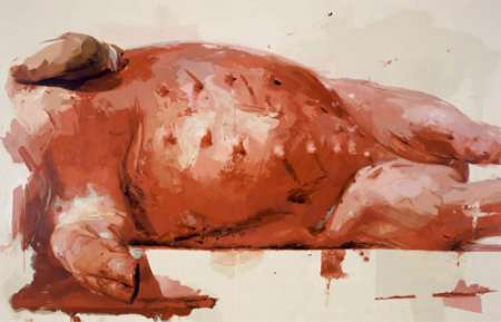jenny saville, suspension, courtesy gagosian gallery