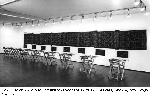 Joseph Kosuth - The Tenth Investigation Proposition 4 - 1974 - Villa Panza, Varese - photo Giorgio Colombo