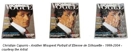 Christian Capurro - Another Misspent Portrait of Etienne de Silhouette - 1999-2004 - courtesy the Artist
