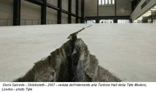 Doris Salcedo - Shibboleth - 2007 - veduta dell'intervento alla Turbine Hall della Tate Modern, London - photo Tate
