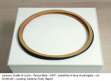 Lorenzo Scotto di Luzio - Senza titolo - 2007 - plastilina in teca di plexiglas - cm 10x80x80 - courtesy Galleria Fonti, Napoli