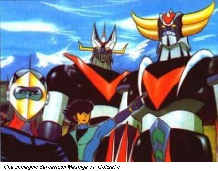 Una immagine dal cartoon Mazinga vs. Goldrake