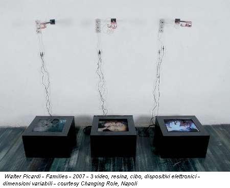 Walter Picardi - Families - 2007 - 3 video, resina, cibo, dispositivi elettronici - dimensioni variabili - courtesy Changing Role, Napoli