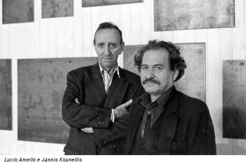 Lucio Amelio e Jannis Kounellis
