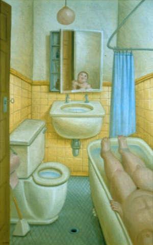 Quadri bagno botero la migliore scelta di casa e interior design - Botero uomo in bagno ...