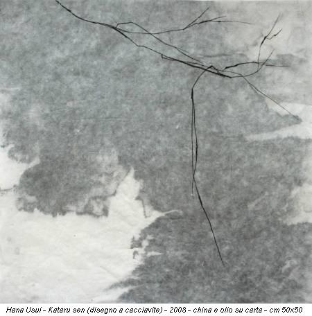 Hana Usui - Kataru sen (disegno a cacciavite) - 2008 - china e olio su carta - cm 50x50