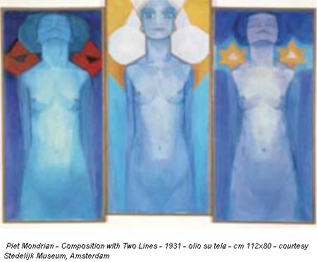 Piet Mondrian - Composition with Two Lines - 1931 - olio su tela - cm 112x80 - courtesy Stedelijk Museum, Amsterdam