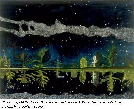 Peter Doig - Milky Way - 1989-90 - olio su tela - cm 152x203,5 - courtesy l'artista & Victoria Miro Gallery, London
