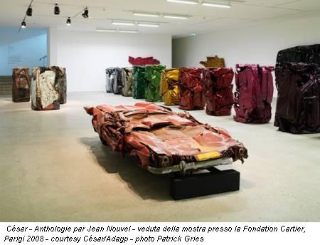 César - Anthologie par Jean Nouvel - veduta della mostra presso la Fondation Cartier, Parigi 2008 - courtesy César/Adagp - photo Patrick Gries