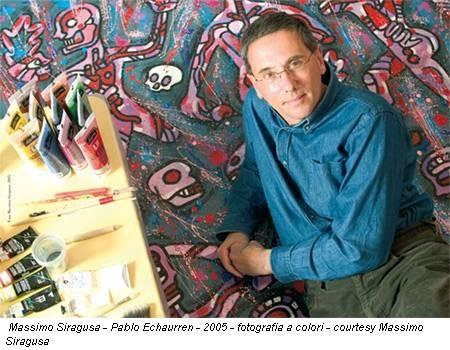 Massimo Siragusa - Pablo Echaurren - 2005 - fotografia a colori - courtesy Massimo Siragusa