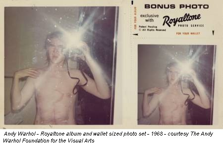 Andy Warhol - Royaltone album and wallet sized photo set - 1968 - courtesy The Andy Warhol Foundation for the Visual Arts