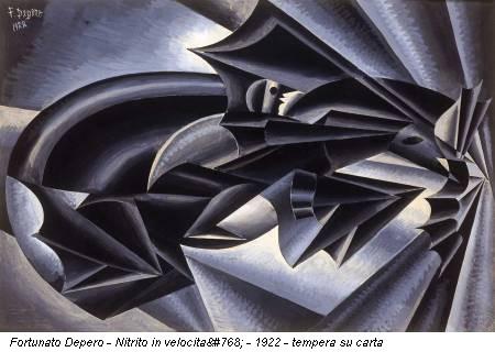 Fortunato Depero - Nitrito in velocità - 1922 - tempera su carta