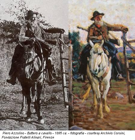 Piero Azzolino - Buttero a cavallo - 1895 ca. - fotografia - courtesy Archivio Corsini, Fondazione Fratelli Alinari, Firenze
