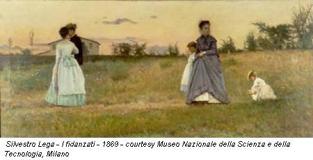 Silvestro Lega - I fidanzati - 1869 - courtesy Museo Nazionale della Scienza e della Tecnologia, Milano