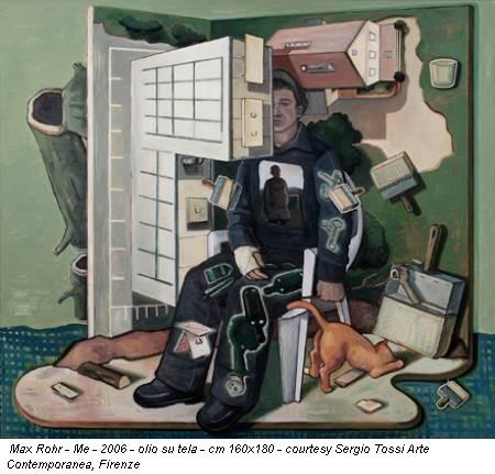 Max Rohr - Me - 2006 - olio su tela - cm 160x180 - courtesy Sergio Tossi Arte Contemporanea, Firenze