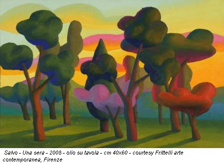 Salvo - Una sera - 2008 - olio su tavola - cm 40x60 - courtesy Frittelli arte contemporanea, Firenze