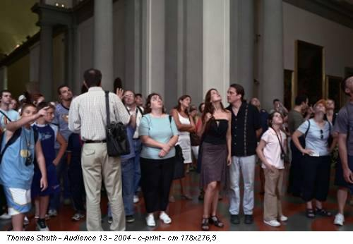 Thomas Struth - Audience 13 - 2004 - c-print - cm 178x276,5