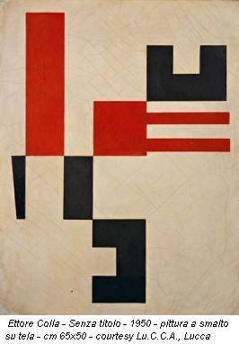 Ettore Colla - Senza titolo - 1950 - pittura a smalto su tela - cm 65x50 - courtesy Lu.C.C.A., Lucca