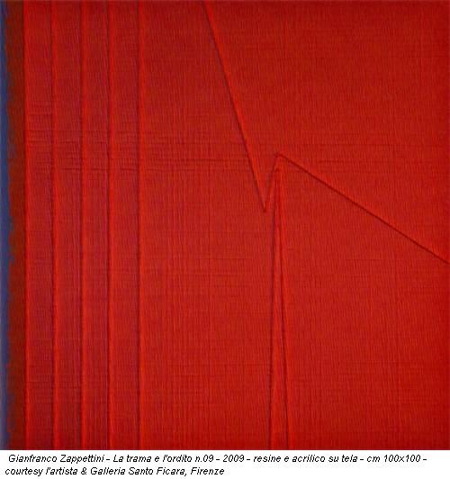 Gianfranco Zappettini - La trama e l'ordito n.09 - 2009 - resine e acrilico su tela - cm 100x100 - courtesy l'artista & Galleria Santo Ficara, Firenze