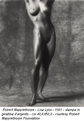 Robert Mapplethorpe - Lisa Lyon - 1981 - stampa in gelatina d'argento - cm 40,6X50,8 - courtesy Robert Mapplethorpe Foundation