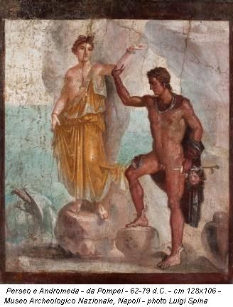 Perseo e Andromeda - da Pompei - 62-79 d.C. - cm 128x106 - Museo Archeologico Nazionale, Napoli - photo Luigi Spina