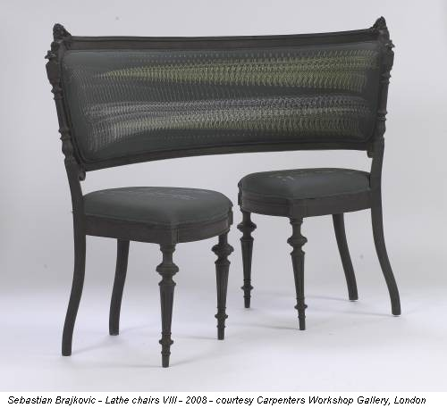 Sebastian Brajkovic - Lathe chairs VIII - 2008 - courtesy Carpenters Workshop Gallery, London