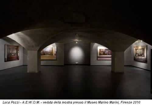 Luca Pozzi - A.E.W.O.M. - veduta della mostra presso il Museo Marino Marini, Firenze 2010