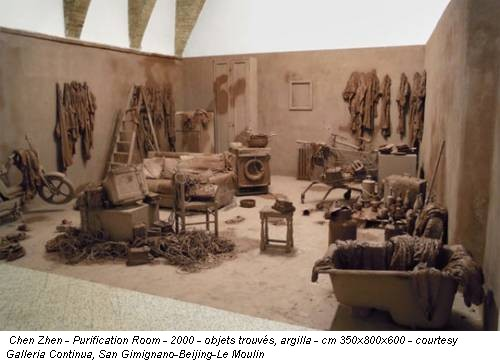 Chen Zhen - Purification Room - 2000 - objets trouvés, argilla - cm 350x800x600 - courtesy Galleria Continua, San Gimignano-Beijing-Le Moulin