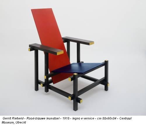 Gerrit rietveld rood blauwe leunstoel 1918 legno e vernice cm 88x60x84 centraal museum - Leunstoel milano ...