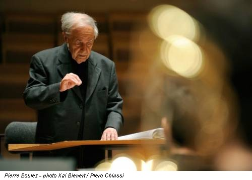 Pierre Boulez - photo Kai Bienert / Piero Chiussi