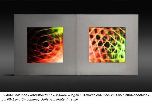 Gianni Colombo - Afterstructures - 1964-67 - legno e lampade con meccanismo elettomeccanico - cm 60x120x10 - courtesy Galleria il Ponte, Firenze
