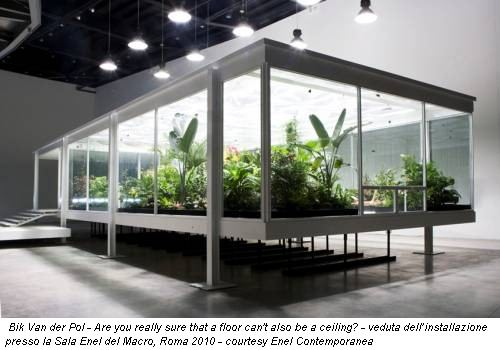 Bik Van der Pol - Are you really sure that a floor can't also be a ceiling? - veduta dell�installazione presso la Sala Enel del Macro, Roma 2010 - courtesy Enel Contemporanea