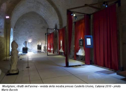Modigliani, ritratti dell'anima - veduta della mostra presso Castello Ursino, Catania 2010 - photo Mario Bucolo