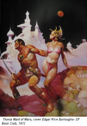Thuvia Maid of Mars, cover Edgar Rice Burroughs- SF Book Club, 1972