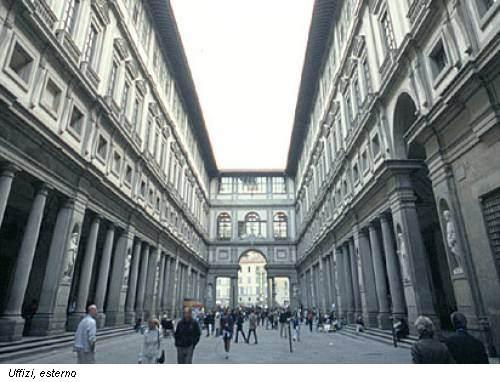 Uffizi, esterno