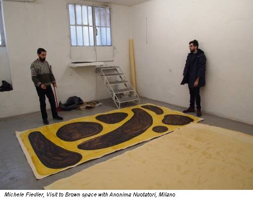 Michele Fiedler, Visit to Brown space with Anonima Nuotatori, Milano