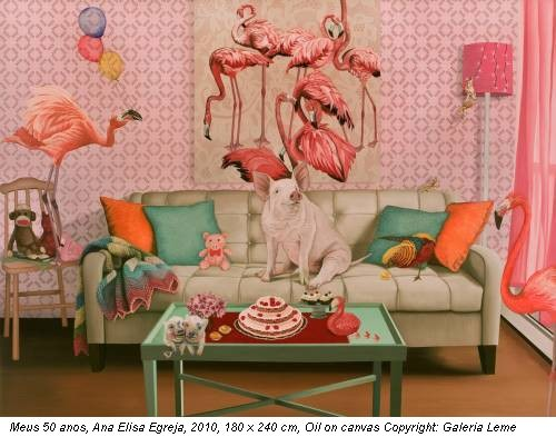 Meus 50 anos, Ana Elisa Egreja, 2010, 180 x 240 cm, Oil on canvas Copyright: Galeria Leme