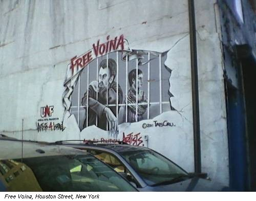 Free Voina, Houston Street, New York