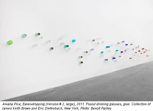 Amalia Pica, Eavesdropping (Version # 2, large), 2011. Found drinking glasses, glue. Collection of James Keith Brown and Eric Diefenbach, New York, Photo: Benoit Pailley