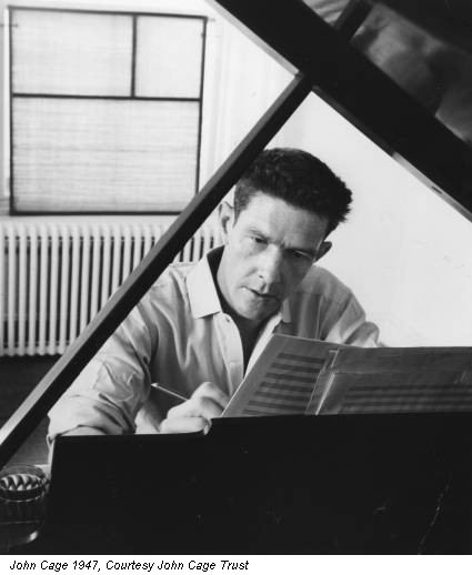 John Cage 1947, Courtesy John Cage Trust