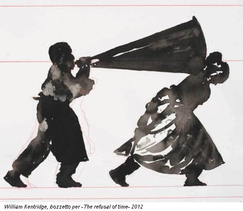 William Kentridge, bozzetto per -The refusal of time- 2012
