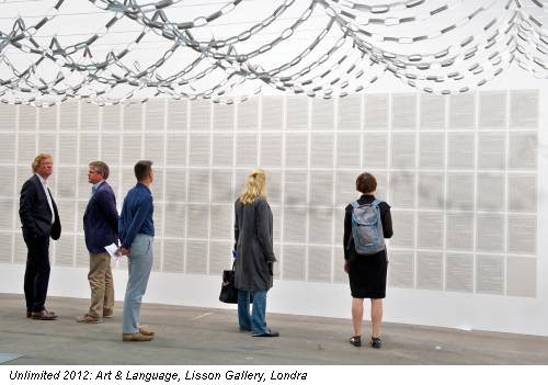 Unlimited 2012: Art & Language, Lisson Gallery, Londra