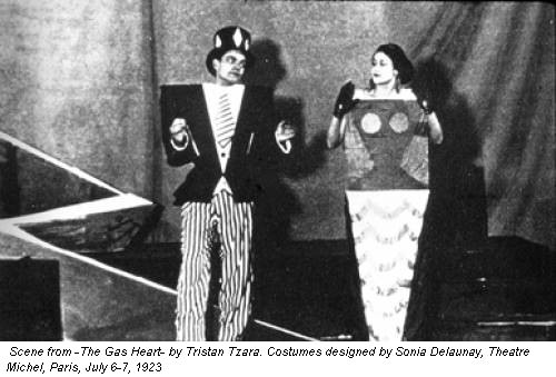 Scene from -The Gas Heart- by Tristan Tzara. Costumes designed by Sonia Delaunay, Theatre Michel, Paris, July 6-7, 1923