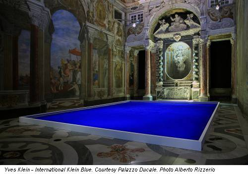 Yves Klein - International Klein Blue. Courtesy Palazzo Ducale. Photo Alberto Rizzerio
