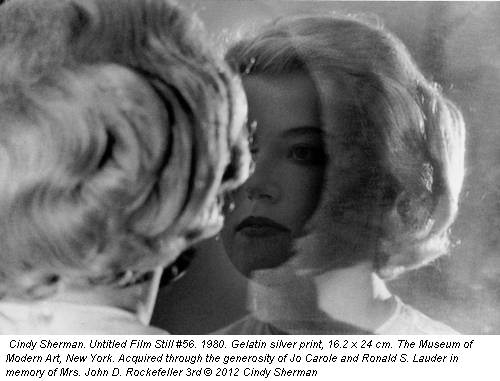 Cindy Sherman. Untitled Film Still #56. 1980. Gelatin silver print, 16.2 x 24 cm. The Museum of Modern Art, New York. Acquired through the generosity of Jo Carole and Ronald S. Lauder in memory of Mrs. John D. Rockefeller 3rd &copy; 2012 Cindy Sherman