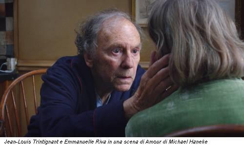 Jean-Louis Trintignant e Emmanuelle Riva in una scena di Amour di Michael Haneke