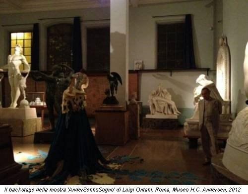 Il backstage della mostra 'AnderSennoSogno' di Luigi Ontani. Roma, Museo H.C. Andersen, 2012
