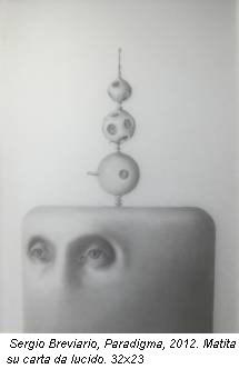 Sergio Breviario, Paradigma, 2012. Matita su carta da lucido. 32x23